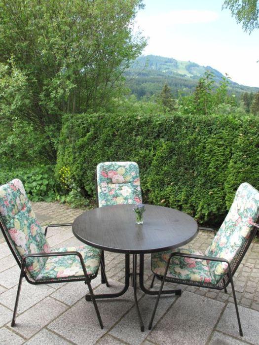 Terrasse :mit Blick auf den Buron
