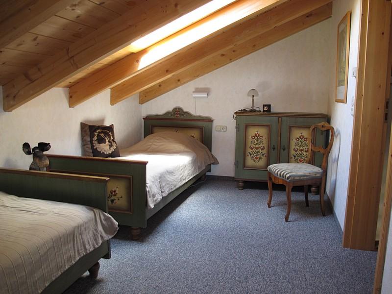 Allgäuer Einzelbetten:Die Betten im zweiten Schlafzimmer sind auch für Erwachsene geeignet.