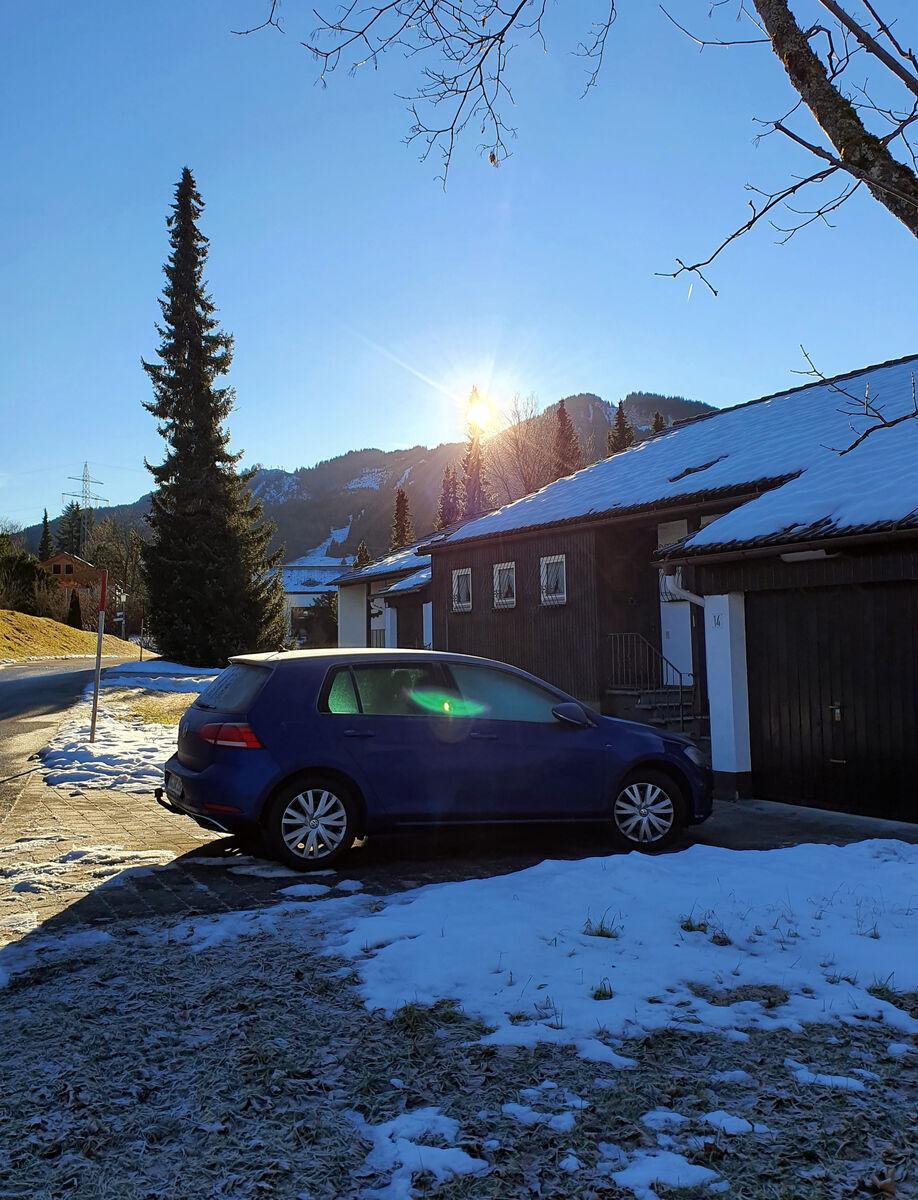 Eiskalter Wintertag: