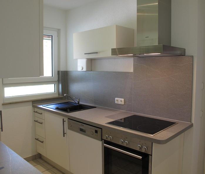 Küche:Die neue Küche mit Cerankochfeld und Dunstabzug