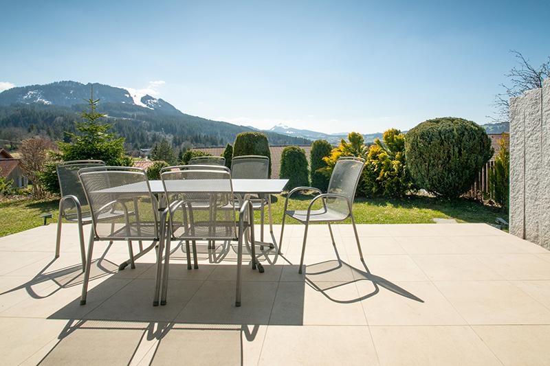 Terrasse:Mit Blick Richtung Reuterwanne und Grünten