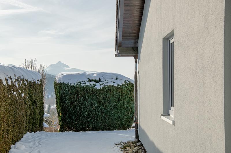 Blick vom Garten:Im Hintergrund der Grünten