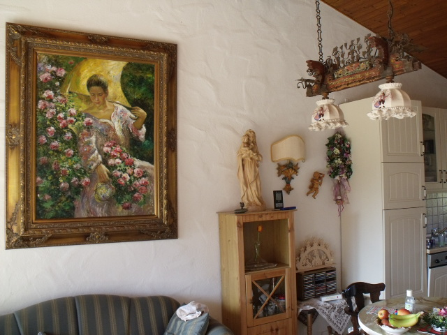 Wohnzimmer:Wohnzimmer mit offener Küche