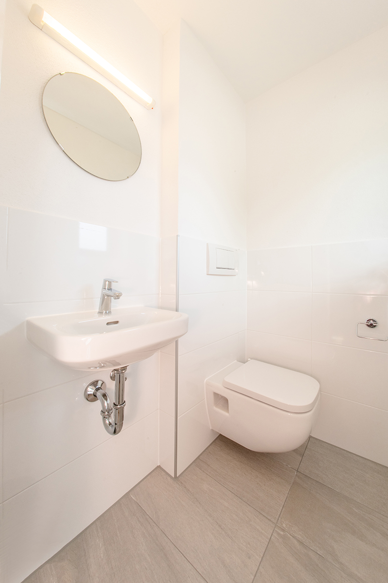 WC im Erdgeschoß:Helles WC im Erdgeschoß