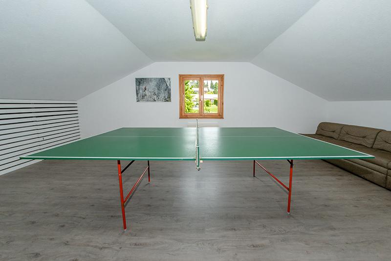 Tischtennisraum Dach:einzigartiger großer Tischtennisraum im Dach