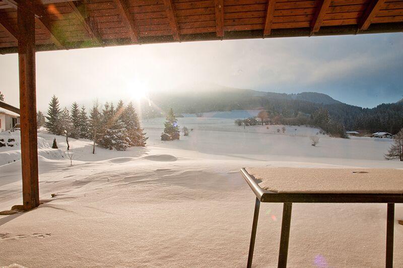 Blick von der Terrasse:Winteransicht