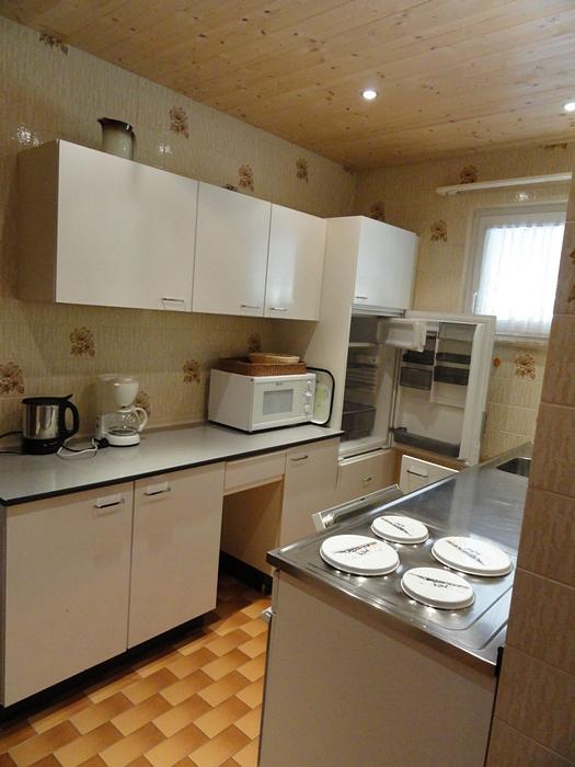 Blick in die Küche: