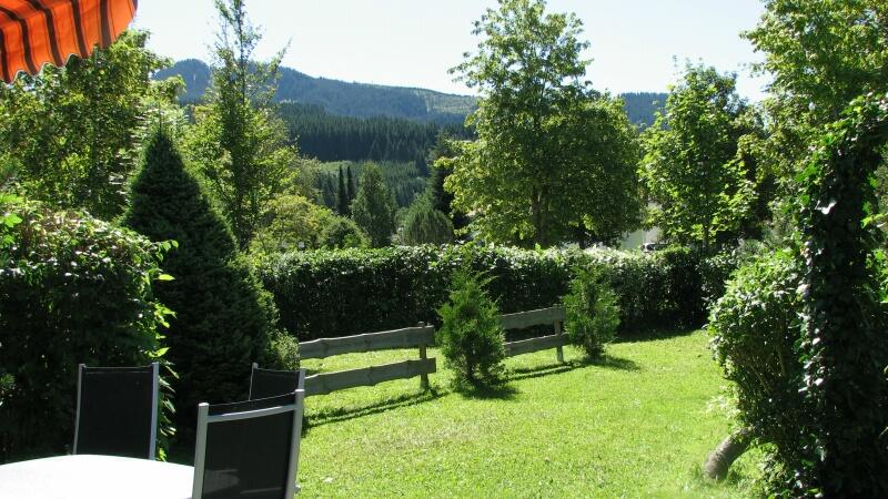 Garten,Terrasse:Blick von der Terrasse auf den Hausberg Alpspitze