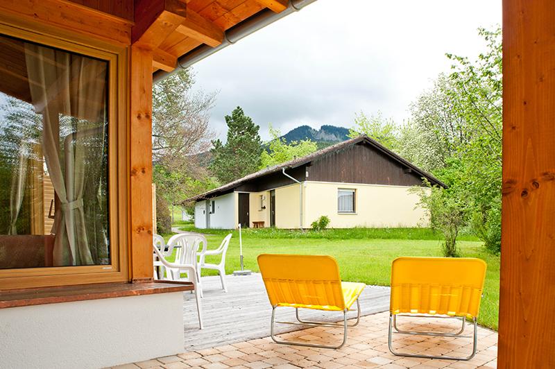 Terrasse mit Garten: