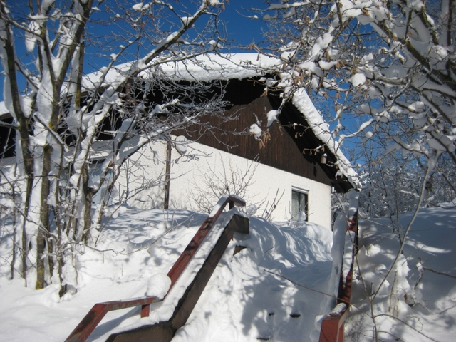 Zugang zu Haus Rosa:Winter 2009