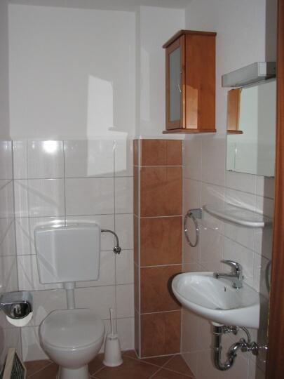 Gäste WC:Das Gäste WC mit zusätzlicher Waschgelegenheit