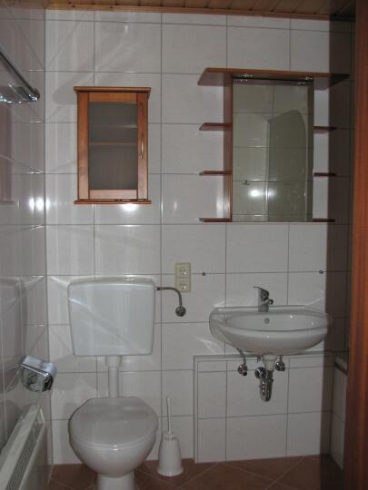 Badezimmer:neu renoviert mit WC